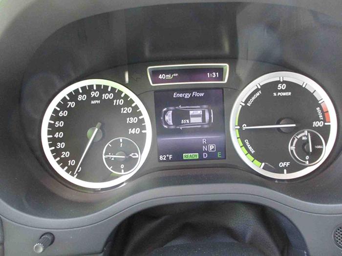 спідометр електромобіля Mercedes-Benz B