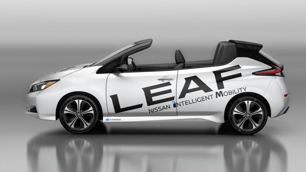 електромобіль nissan leaf кабріолет